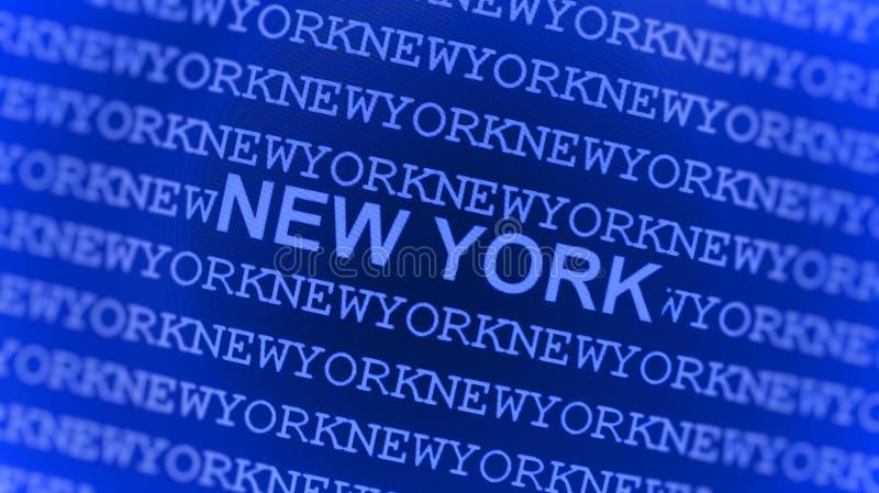 New York a tapé sur l'écran bleu illustration libre de droits