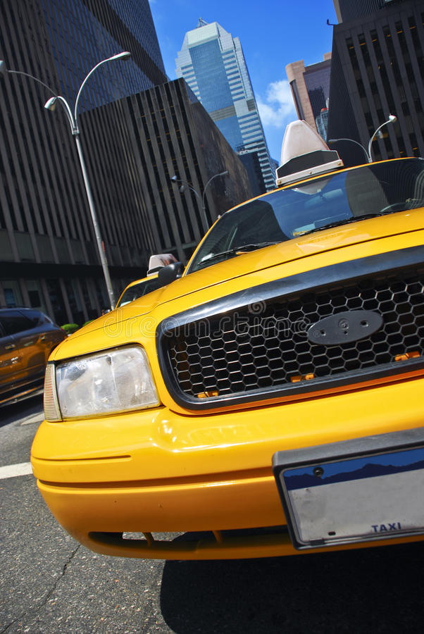 New York taxi. Cab in the streets of Manhattan royalty free stock photo