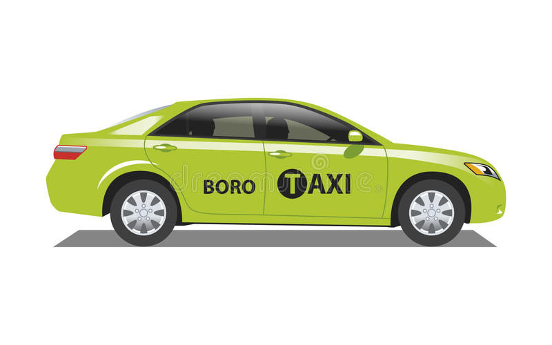 New York taxi Boro stock illustrationer