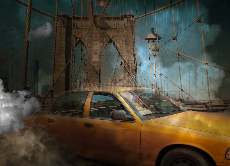 New York Taxi stock illustration