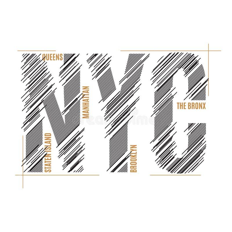 New York tee print. T-shirt design graphics stamp label typography. Vector illustration stock illustration