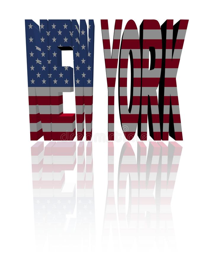 New York Text With American Flag Royalty Free Stock Photo