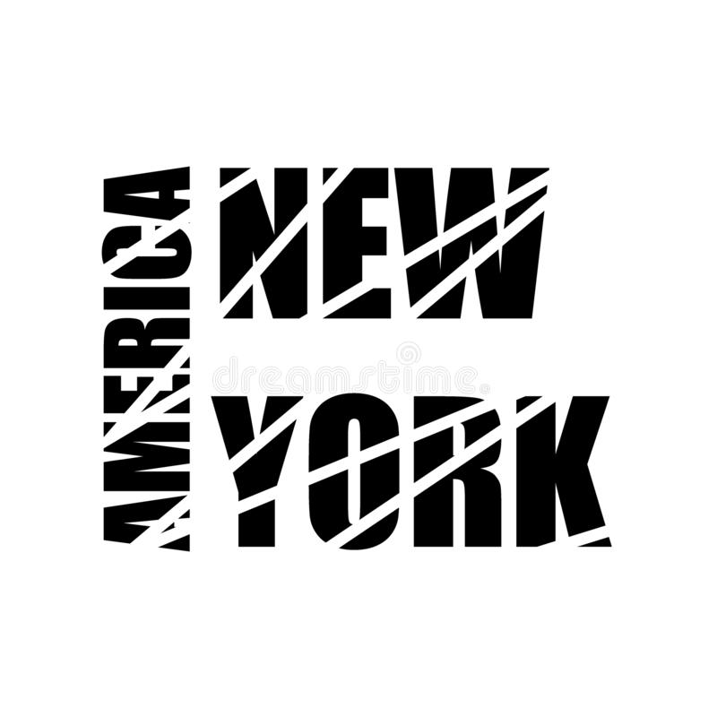 New York text Calligraphy Vintage Retro Lettering vector design.Typography 3D Poster Banner Card template. vector illustration