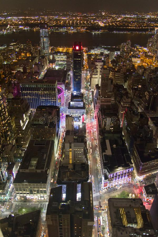 New York Time Square van hierboven stock afbeelding