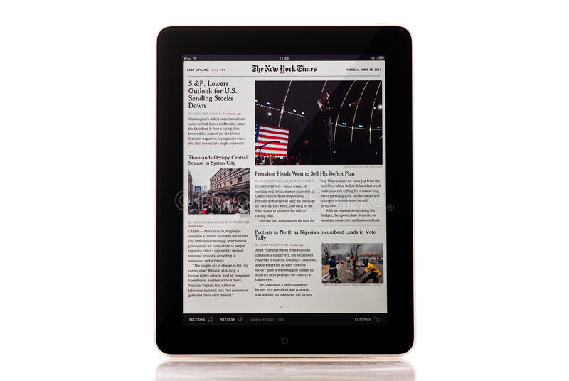 New York Times royalty free stock photography