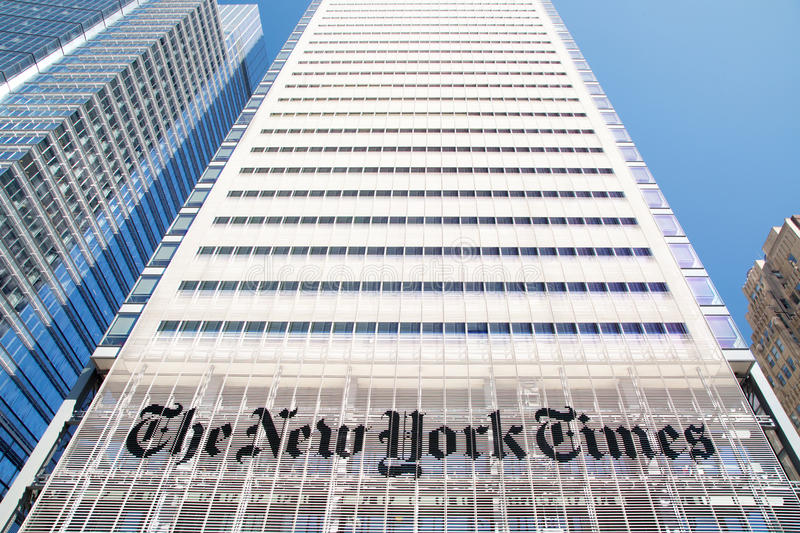 The New York Times building royalty free stock photos