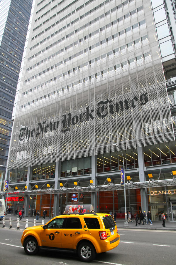 New York Times building. royalty free stock photo