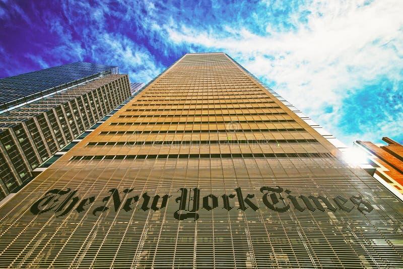 New York Times dziennika drapacz chmur w środek miasta Manhattan usa obrazy royalty free