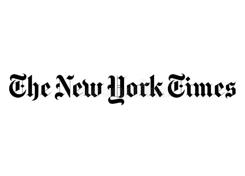 The New York Times-Logo lizenzfreie abbildung