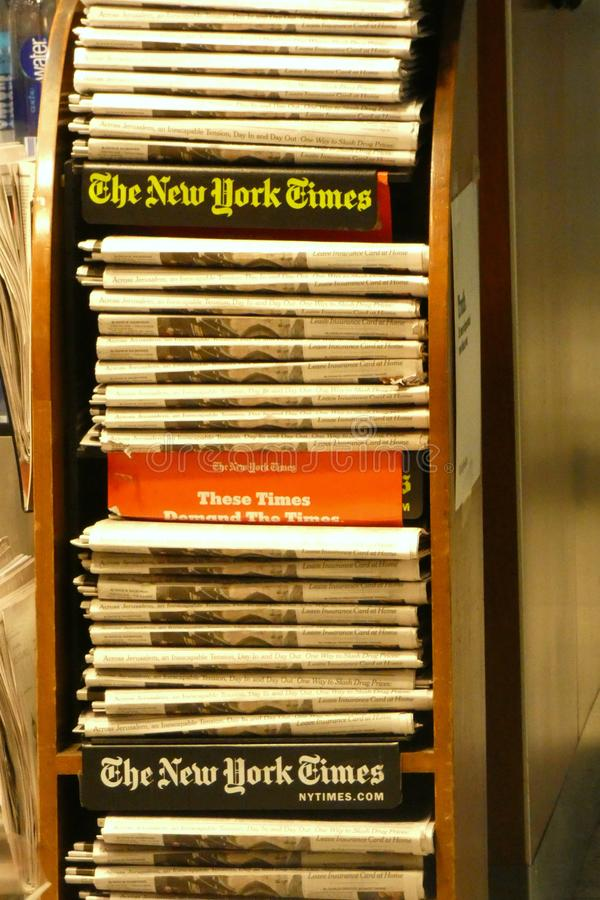 New York Times Newspapers stock photo