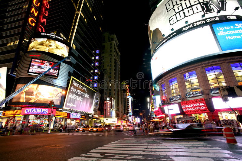 Download New York Times Square editorial photography. Image of lights - 8150122