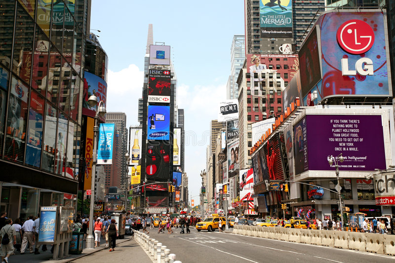 New York Times Square traffic stock photo