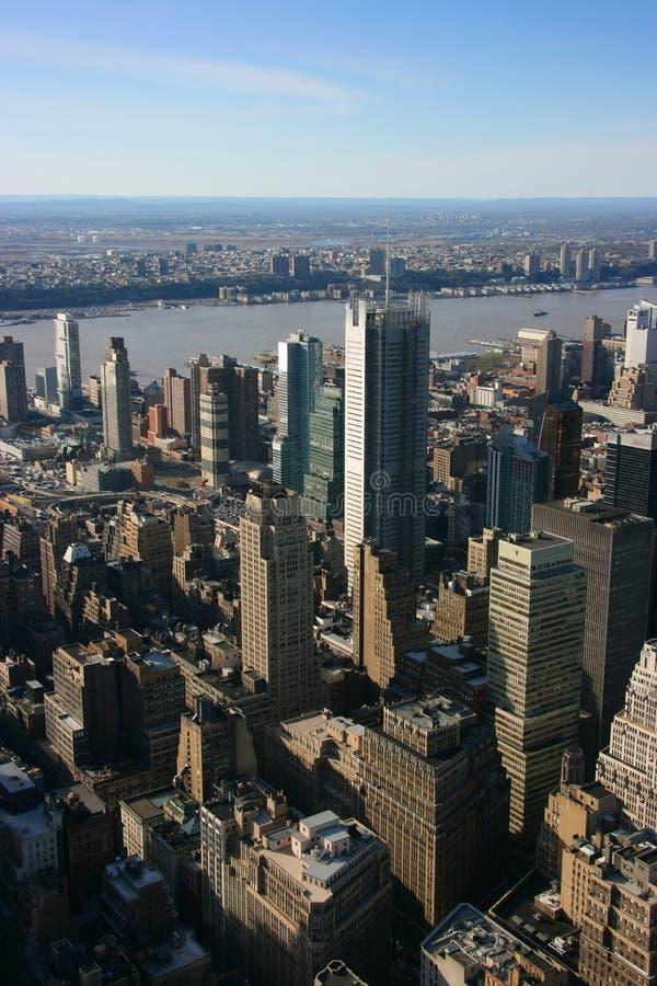 New- York Timesheadquarters gesehen von oben stockfotos