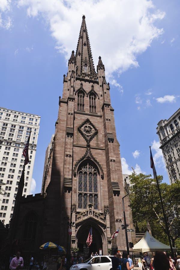 New york: trinity church stock images