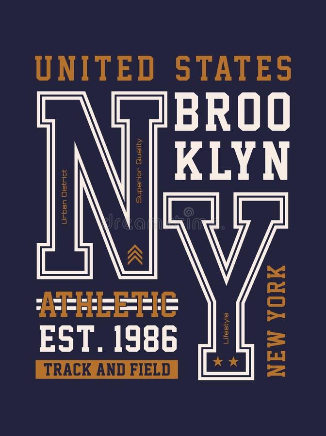 New York typografidesign vektor illustrationer