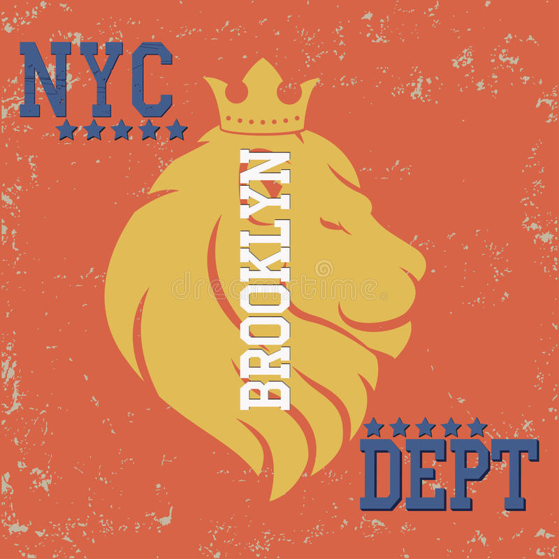 New york typography vector illustration