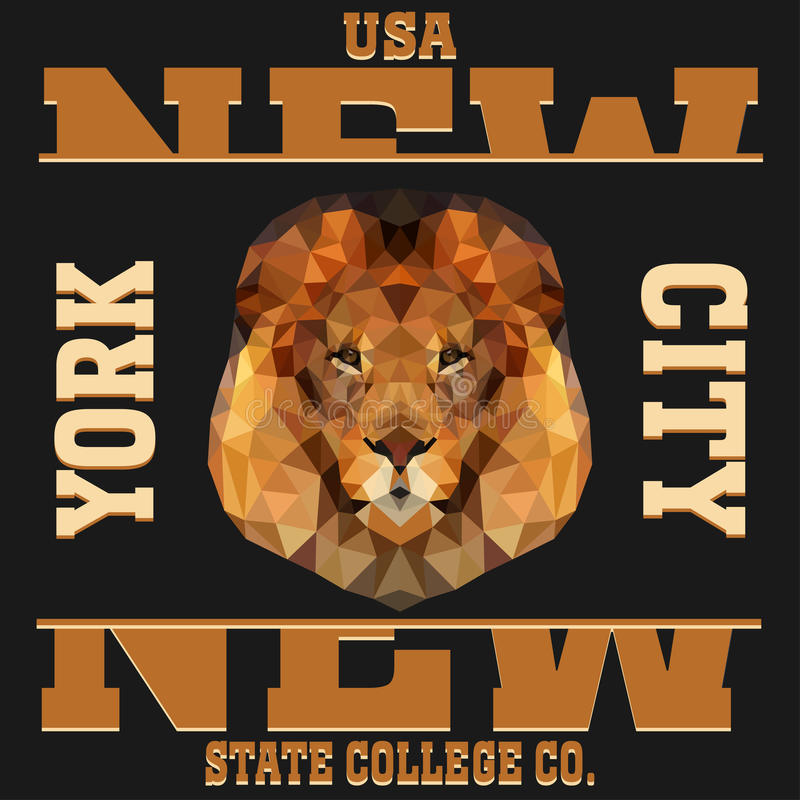 New york typography royalty free illustration