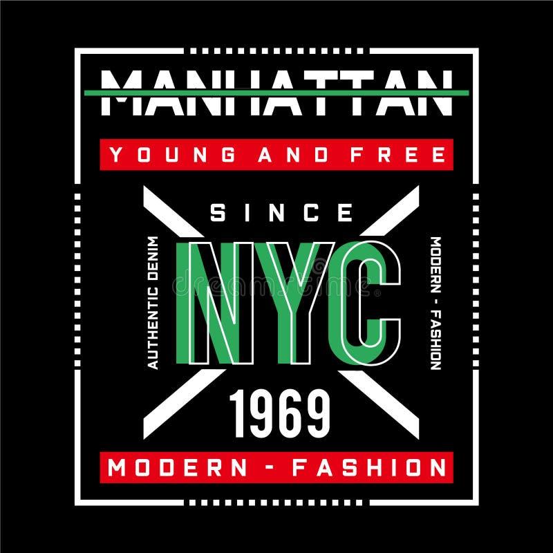 New york  typography tee graphic design,vector illustration stock illustration