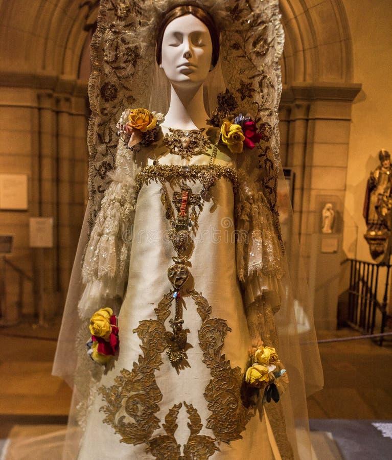 NEW YORK, U.S.A. - 20 AGOSTO 2018 - corpi celesti: Modo e l'immaginazione cattolica al museo di arte metropolitano che fotografie stock libere da diritti