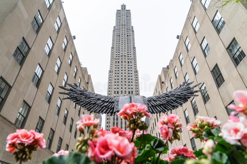 NEW YORK, U.S.A. - 5 MAGGIO 2018: Rockefeller Center in NYC fotografie stock
