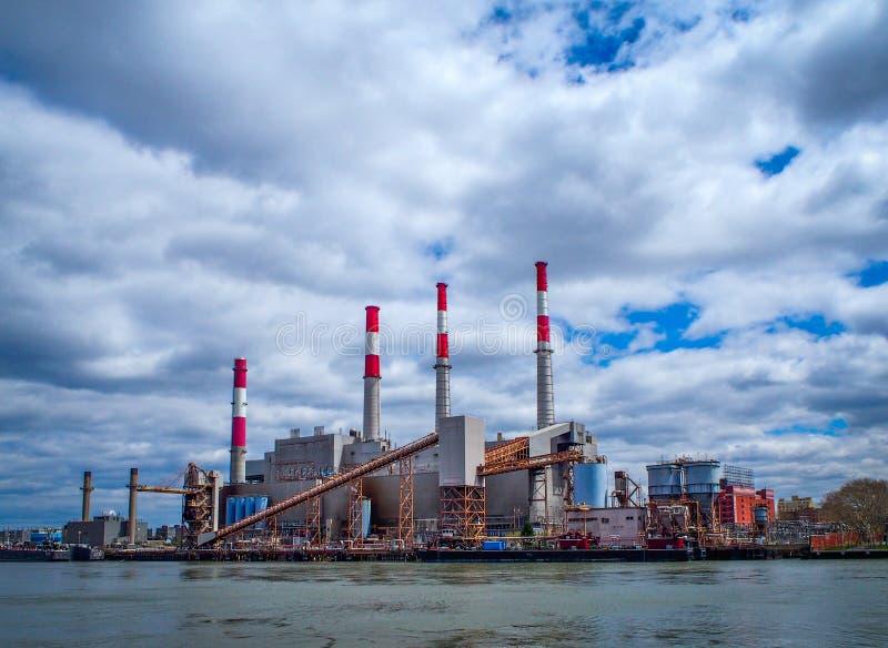 NEW YORK, UNITED STATES -  Ravenswood Generating Station in New York. NEW YORK, UNITED STATES - April 24, 2015: Ravenswood Generating Station in New York royalty free stock photos
