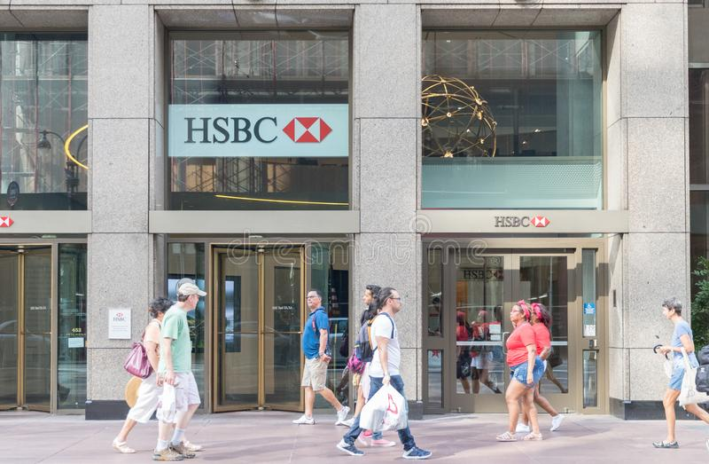 HSBC branch editorial image  Image of finance, business
