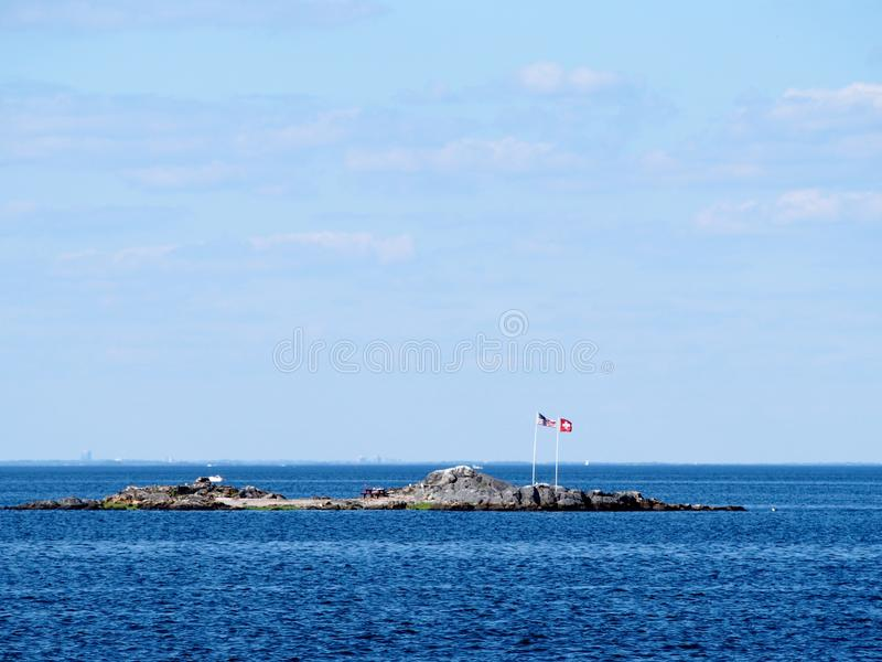 New York - United States -Rat island is a private island in New York - United States. New York - United States, June 24, 2015 -Rat island is a private island in stock images
