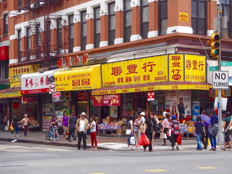New York - United States - Street of Chinatown in New York. New York - United States, June 23, 2016 - Street of Chinatown in New York royalty free stock image