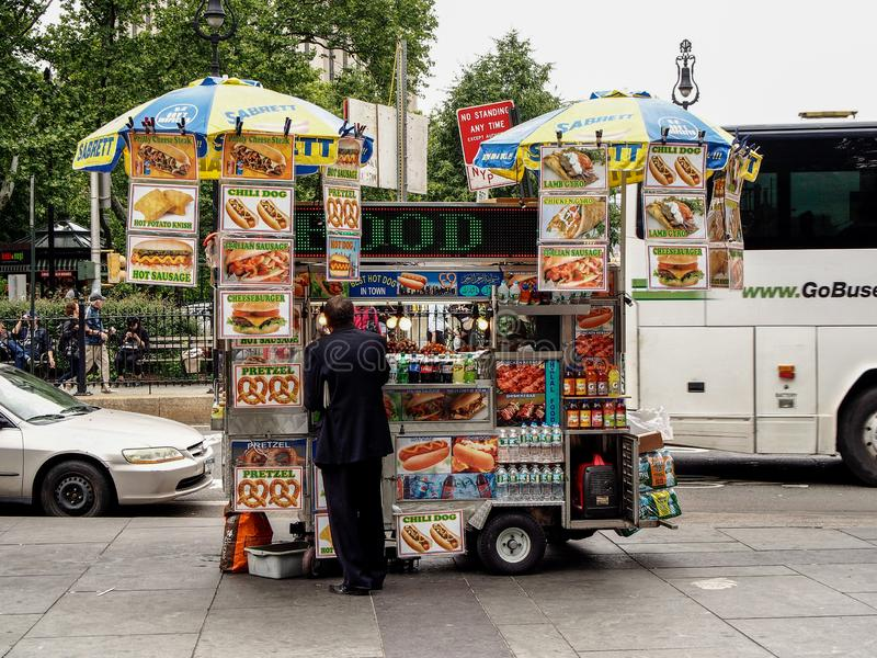 New York - United States - Typical food track in a street of New York stock photo