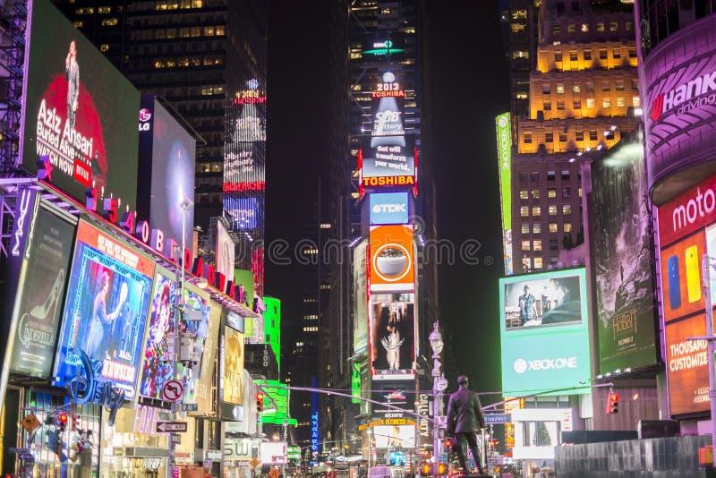NEW YORK, US - NOVEMBER 22: Busy Times Square at night. November stock photos