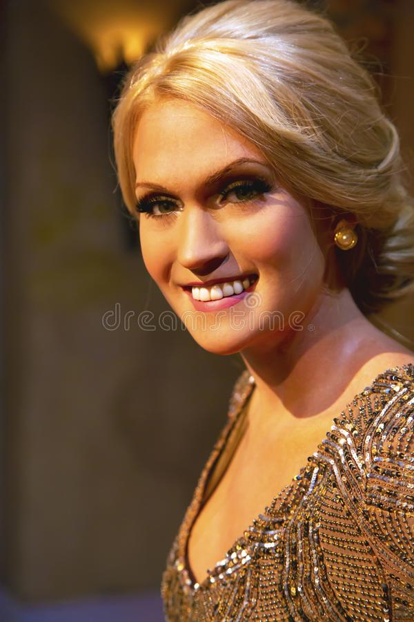 Carrie Underwood in Madame Tussauds of New York royalty free stock photos