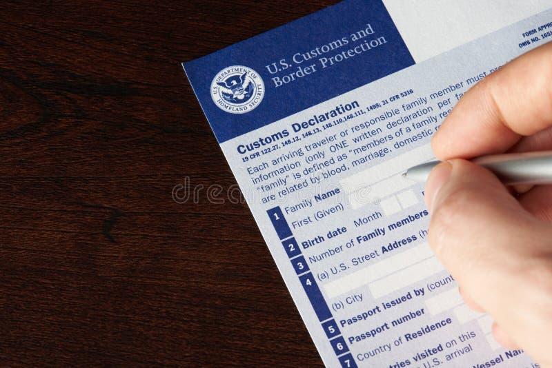 Filling up us customs declaration form editorial stock image image download filling up us customs declaration form editorial stock image image of custom tourist altavistaventures Images