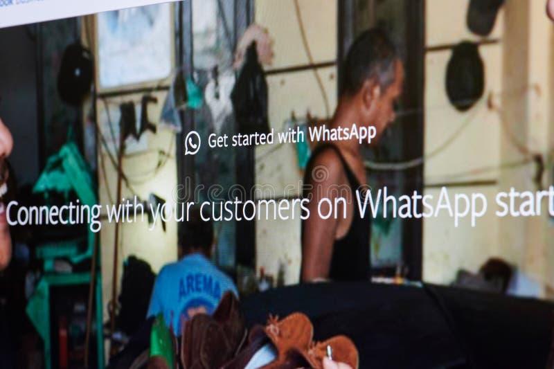 Whatsapp ads menu royalty free stock images