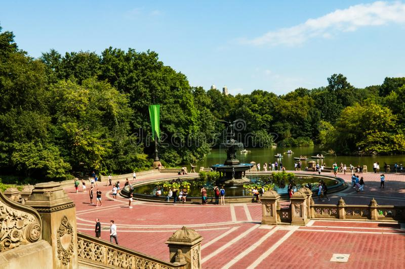 NEW YORK, USA - August 30, 2018: Beautiful view of central park in new york stock image