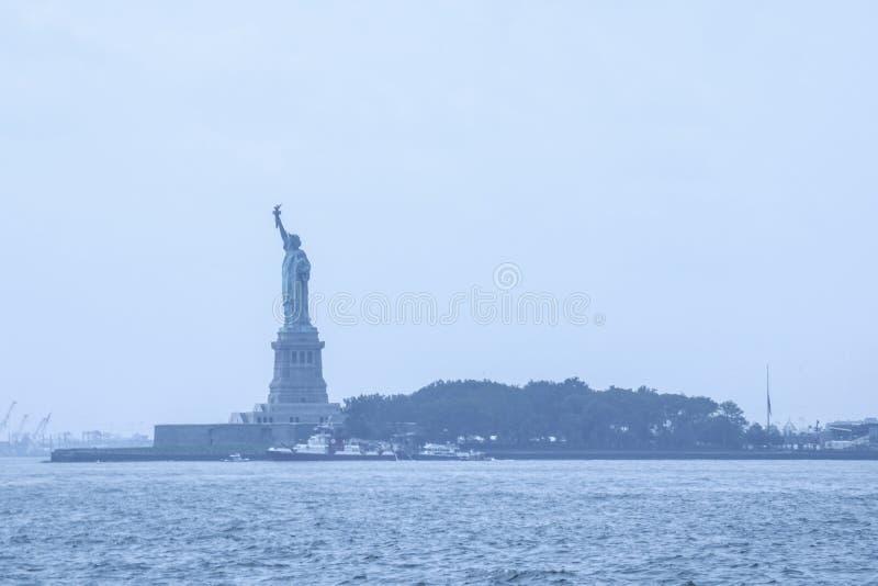 NEW YORK, USA - August 31, 2018: Statue of Liberty on Liberty Island. USA.  stock photography