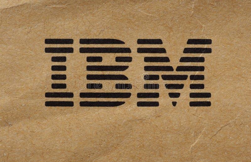 IBM logo in New York. NEW YORK, USA - CIRCA NOVEMBER 2017: Logo of IBM, meaning International Business Machines printed on a paper envelope stock image