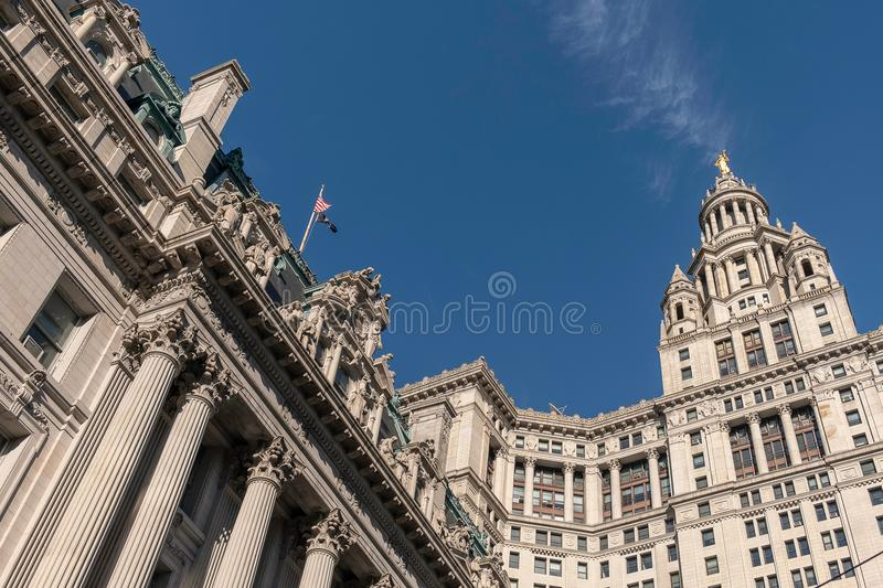 David N. Dinkins Municipal Building and Surrogate`s Court. New York, USA - July 20, 2018 - David N. Dinkins Municipal Building and Surrogate`s Court, NYC royalty free stock photography