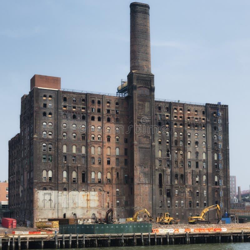 Domino Sugar Refinery in Williansburg, Brooklyn royalty free stock photography