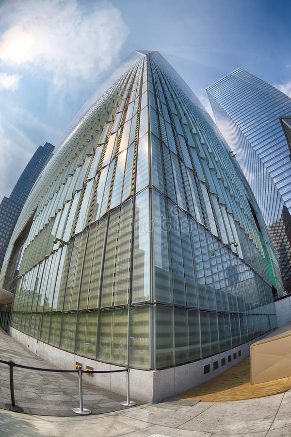 NEW YORK - USA - 13 JUNE 2015 freedom tower the highest skysctaper in new york stock photography