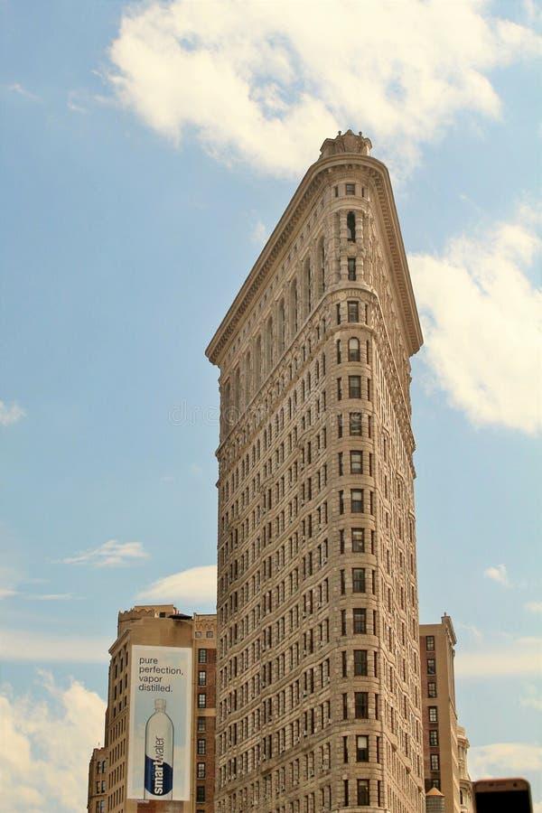 New York, USA - June 19, 2017 - A New York City landmark, The Flat Iron Building royalty free stock images