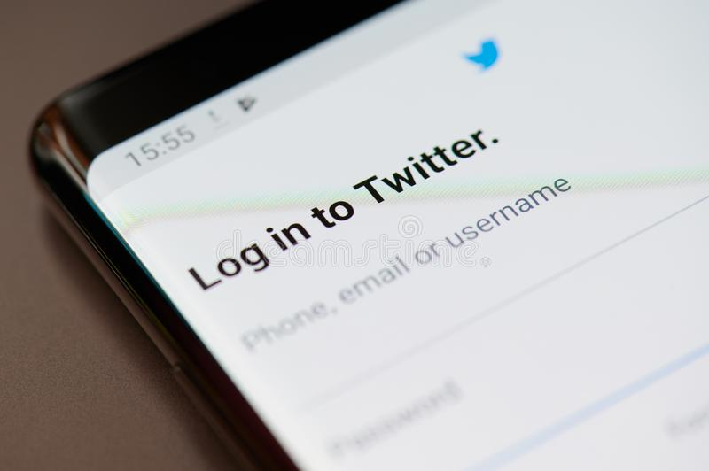 Log in to twitter royalty free stock photos