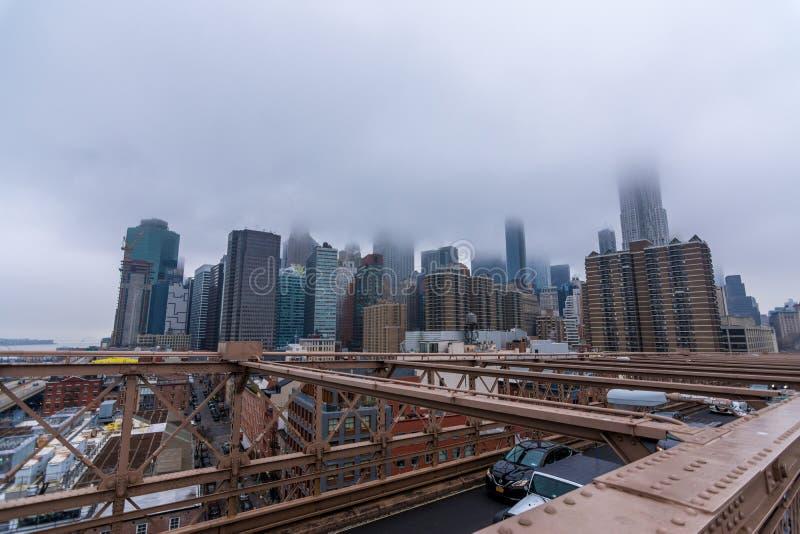 New York USA - mars 29, 2018: I stadens centrum Manhattan med byggnader royaltyfri fotografi