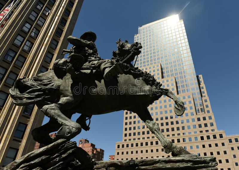 New York, USA - May 24, 2018: America Response Monument in Lib royalty free stock photo