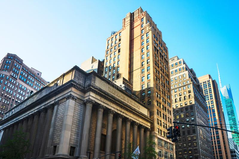 Greenwich Savings Bank in Midtown Manhattan NYC. New York, USA - May 6, 2015: Greenwich Savings Bank in Midtown Manhattan in New York, NYC, USA. Now the building royalty free stock photo