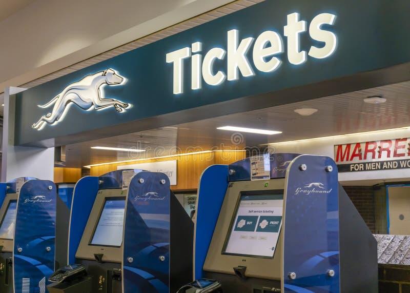 Greyhound Bus Terminal In Dallas, Texas Editorial Stock