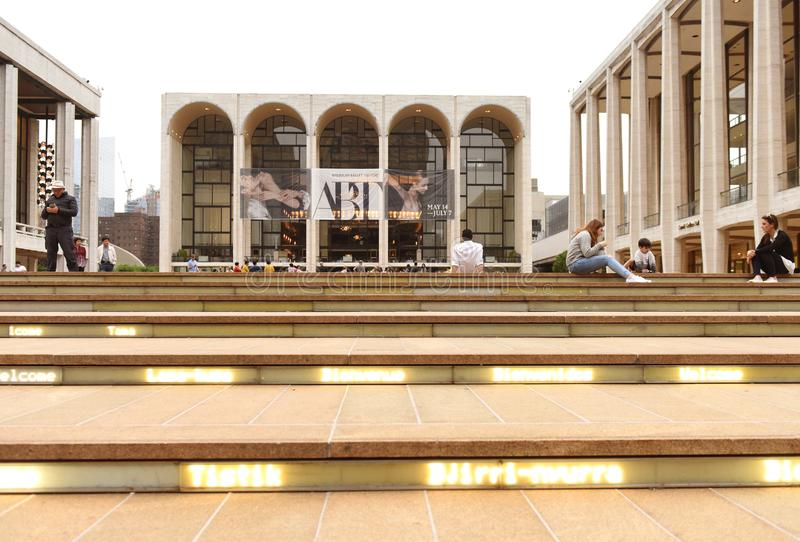 New York, USA - May 29, 2018: People near the Metropolitan Opera stock photo