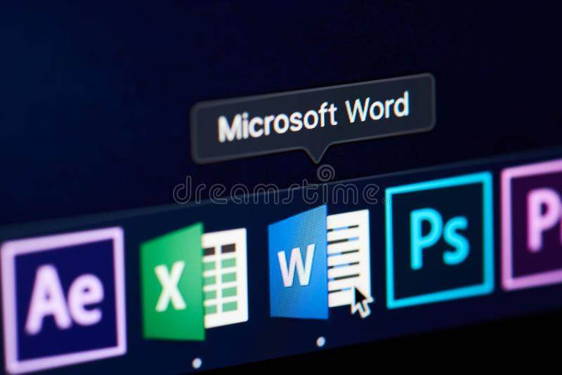 Microsoft Word Application Icon Editorial Image - Image of suite
