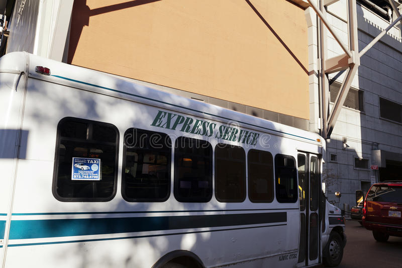 Express Service Bus By Port Authority New-York Editorial Stock Photo