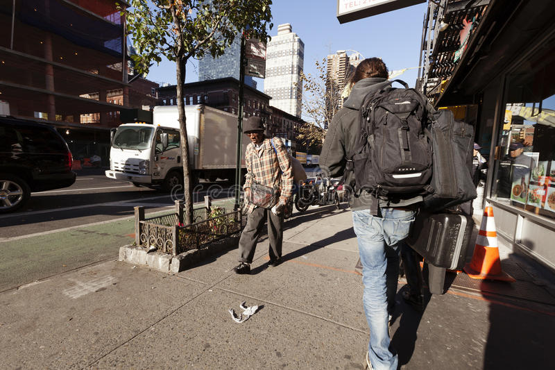Download 9th Avenue Manhattan New-York Pedestrians And Traffic Editorial Stock Photo - Image: 30080218