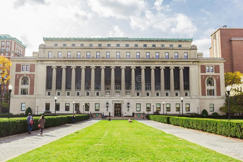 Butler library building at Columbia University, New York, USA royalty free stock images